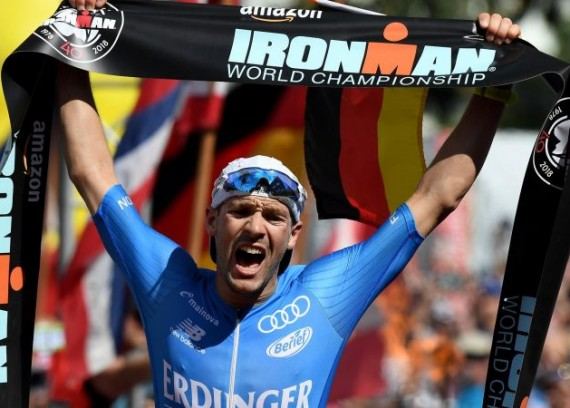 Van Riel dives to European triathlon title