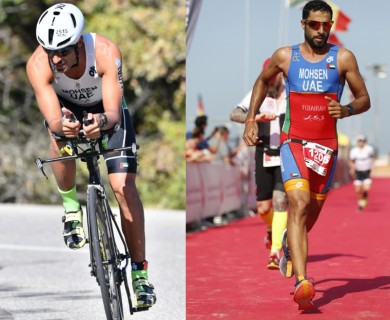 Selecting members of our national triathlon team for adults and juniors through the Fujairah Triathlon in its second edition