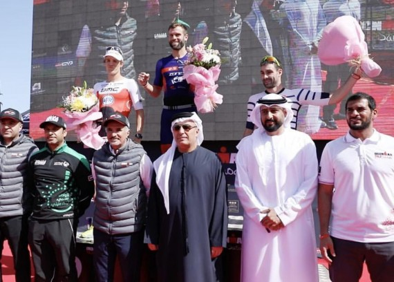 HE Mattar Al Tayer, Vice Chairman of Dubai Sports Council, was crowned the winner RONMAN 70.3 Championship
