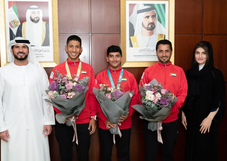 UAE Triathlon celebrates Faris Al Zaabi scored Third place in Arab and African Championship of Duathlon