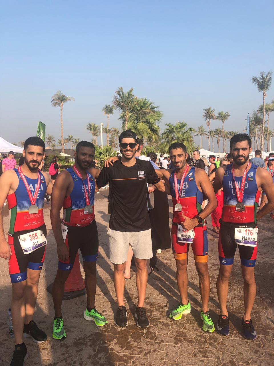 UAE National Triathletes Achieved Three Golden Medals at Roy Nasr Triathlon Race