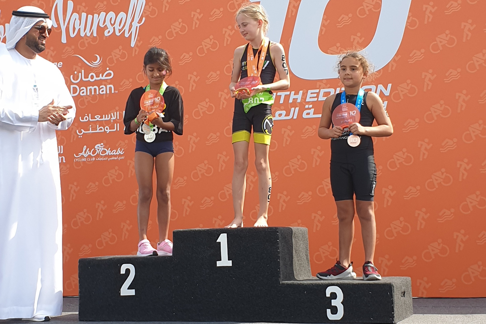 UAE players shine in triathlon competitions